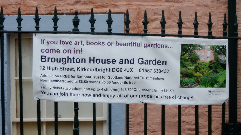 Broughton House & Garden  advertising poster © 2015 Scotiana