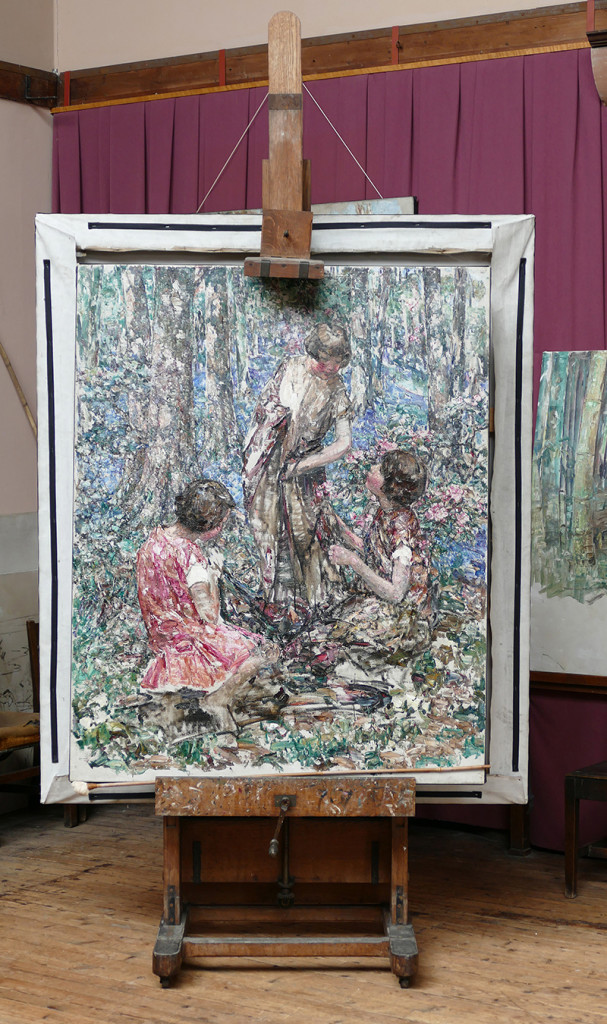 Broughton House Hornel's easel © 2015 Scotiana