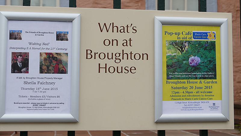 Broughton House information pannels © 2015 Scotiana