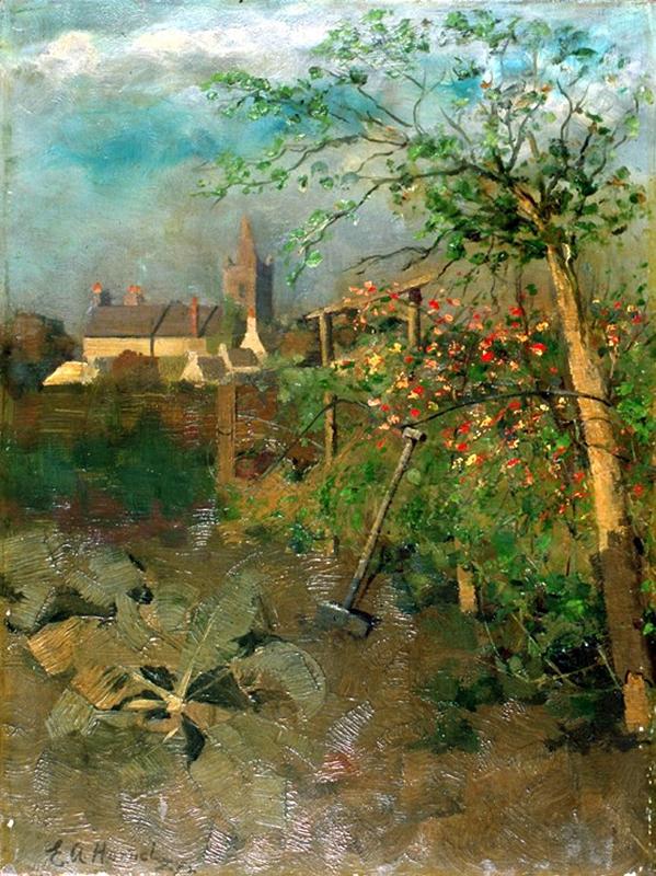 My Own Back Garden Edward Atkinson Hornel 1887