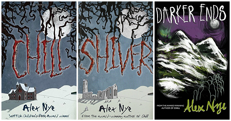 Alex Nye Chill Shiver & Darker Ends books
