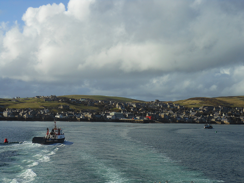Leaving Stromness aboard MV Hamnavoe © 2012 Scotiana