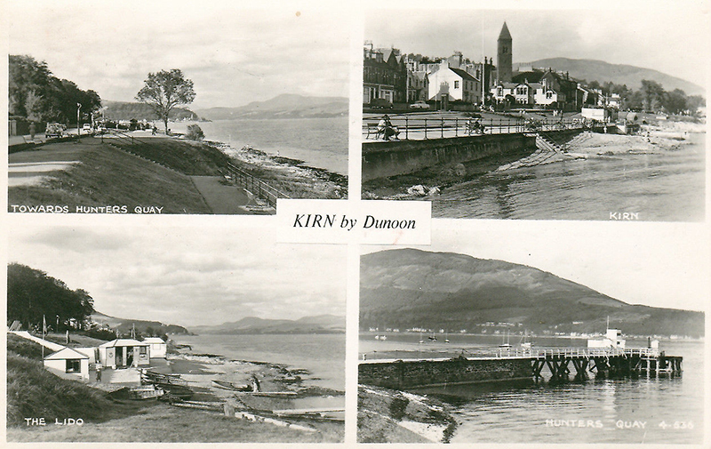 Old multiviews postcard of Kirn by Dunoon, Cowal peninsula, Argyll