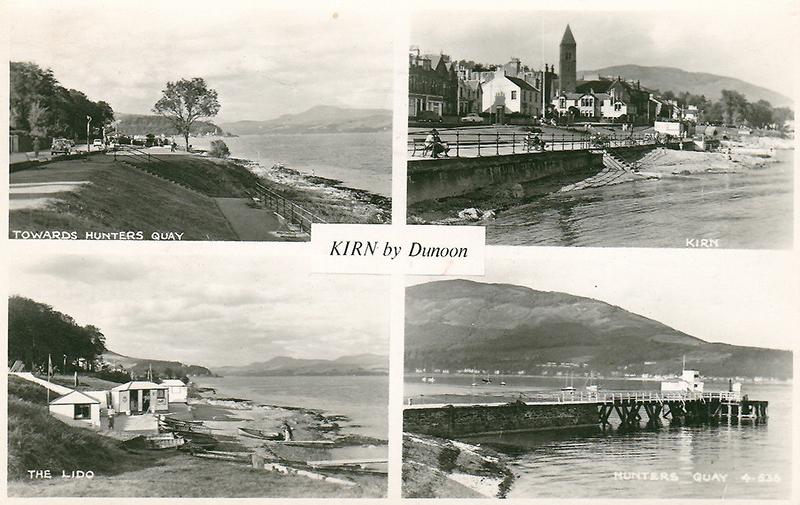 Old multiviews postcard of Kirn by Dunoon, Cowal peninsula, Argyll