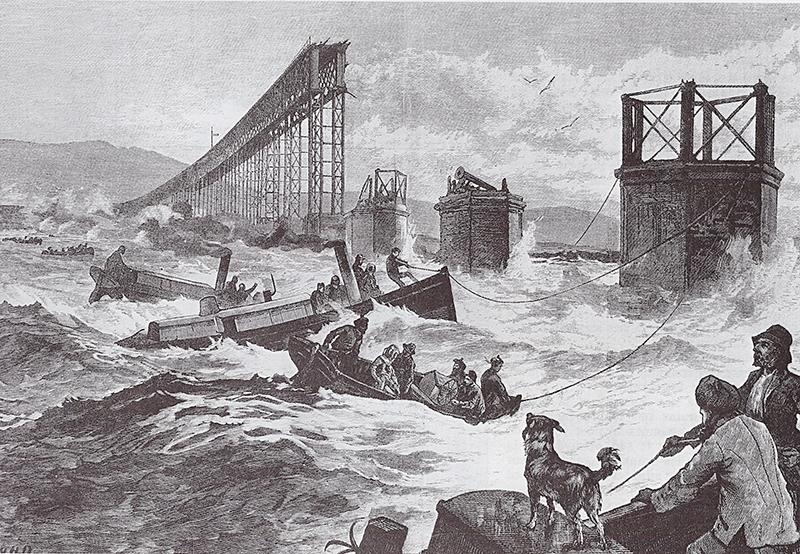Tay Bridge disaster 1879 llustration Wikipedia