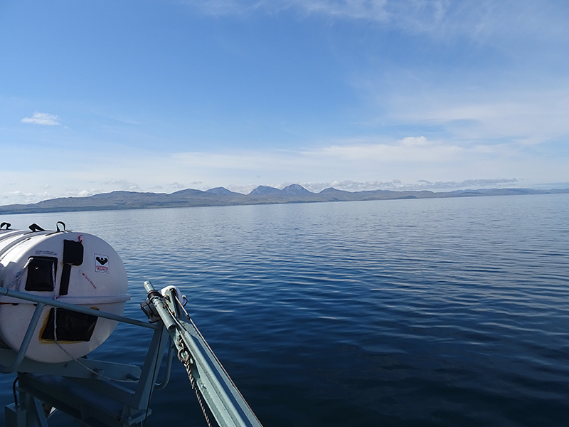 A view of the Paps of Jura from the Kennacraig-Port Askaig ferry © 2015 Scotiana