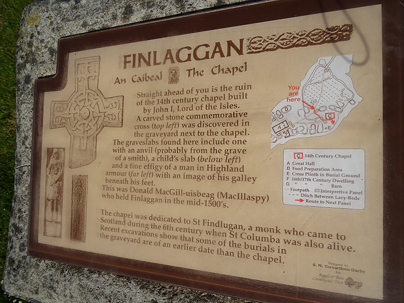 Islay Finlaggan Chapel panel © 2015 Scotiana