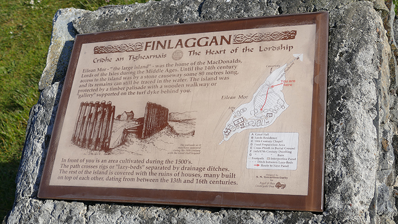 Islay Finlaggan The Heart of the Lordship panel © 2015 Scotiana