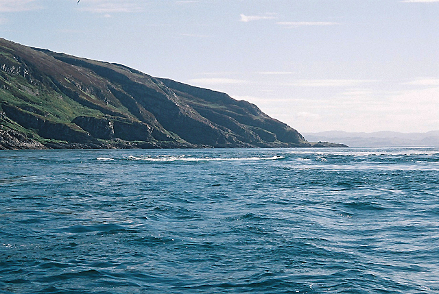 Corryvreckan whirlpool between Jura and Scarba Wikimedia