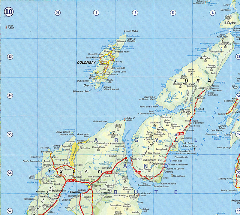 Islay-Jura map  © The Royal Scottish Geographical Society 2006