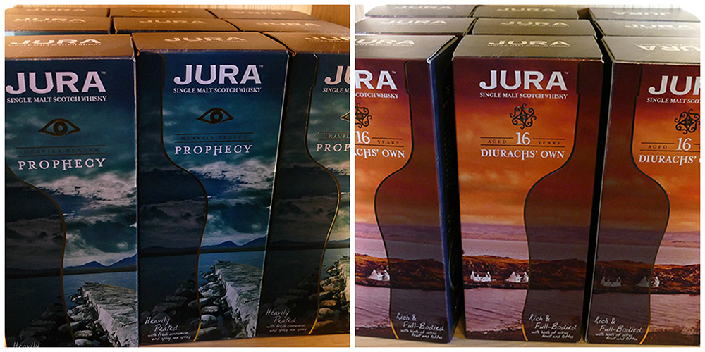 Jura Diurach's Own & Prophecy whiskies  © 2015 Scotiana