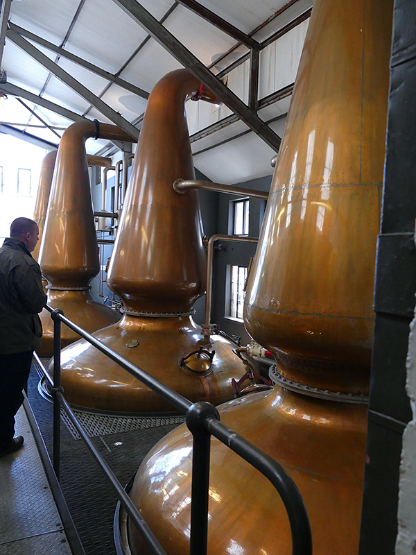Jura Isle Distillery copper stills JC 10-06-2015 P1070984