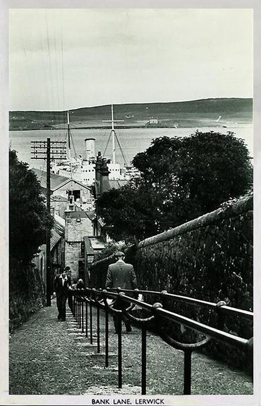 Bank Lane Lerwick Shetland old postcard