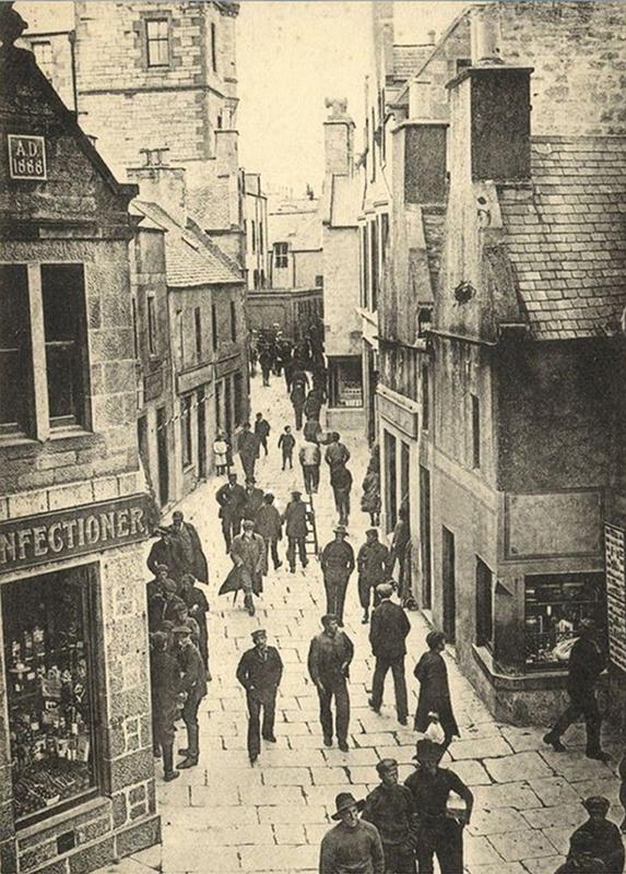 Commercial Street Lerwick Shetland old postcard