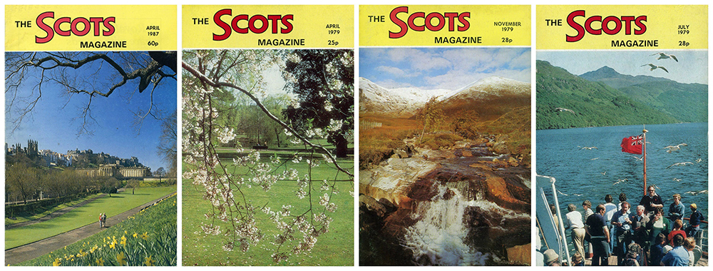 The Scots Magazine montage four covers 1979-198