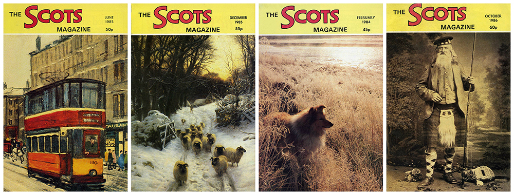 The Scots Magazine montage four covers 1984-1985-1986