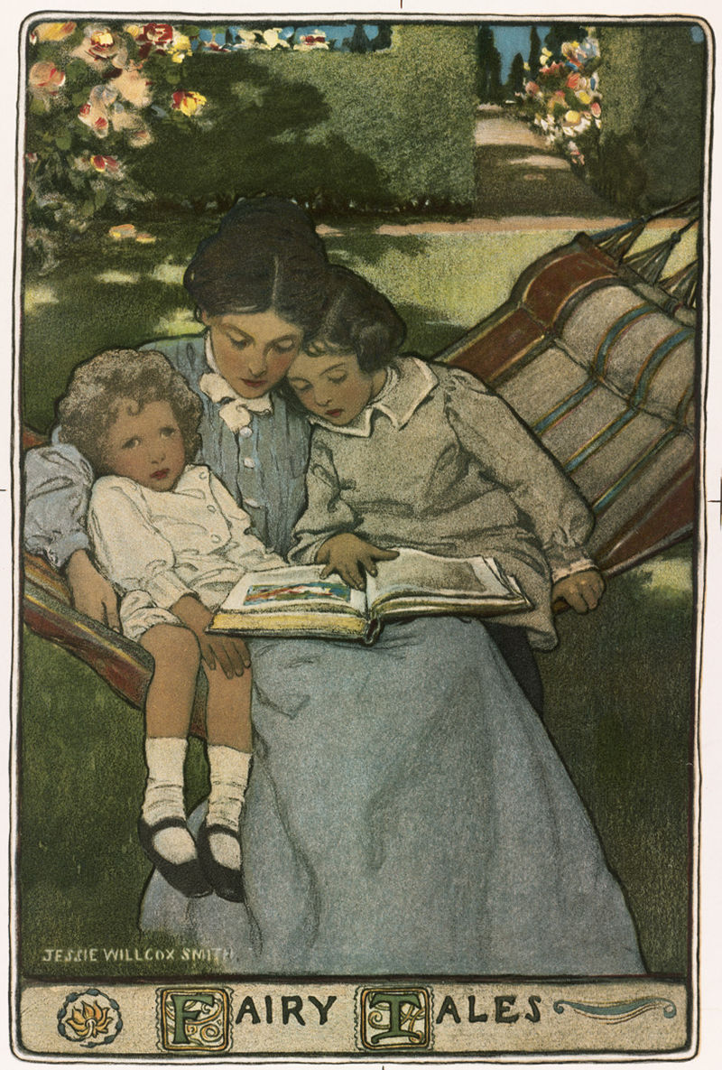 Cover illustration of a 19th Fairy Tales volume by Jessie Willcox Smith Wikipedia