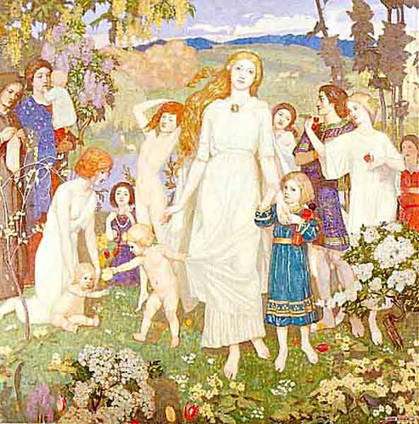 Wonder Tales Donald Alexander Mackenzie  The Coming of Bride Illustration by  John Duncan