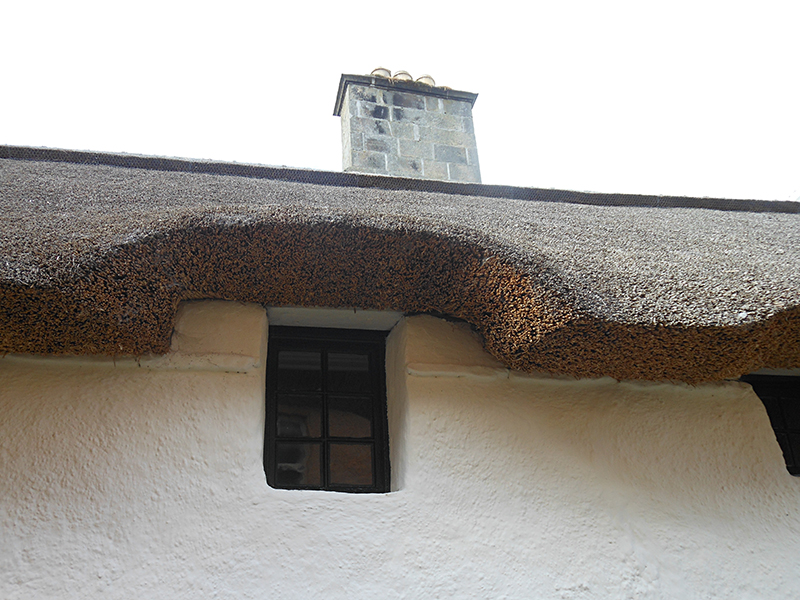 Cromarty Hugh Miller's Cottage thatched roof © 2012 Scotiana