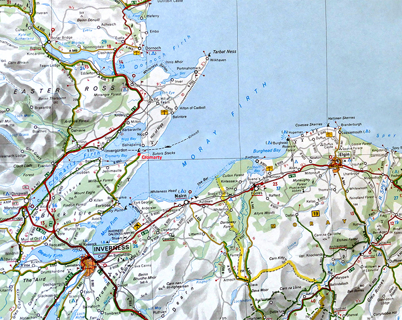 Moray Firth Michelin Scotland map