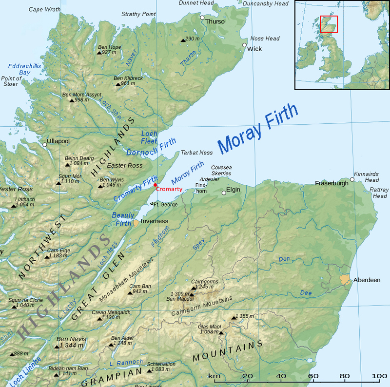 Moray Firth map Source Wikipedia