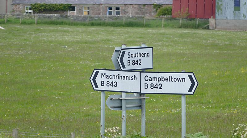 Kintyre crossroads © 2015 Scotiana