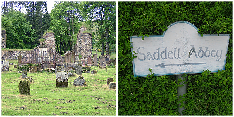 Saddell ruined abbey in Kintyre Scotland © 2015 Scotiana