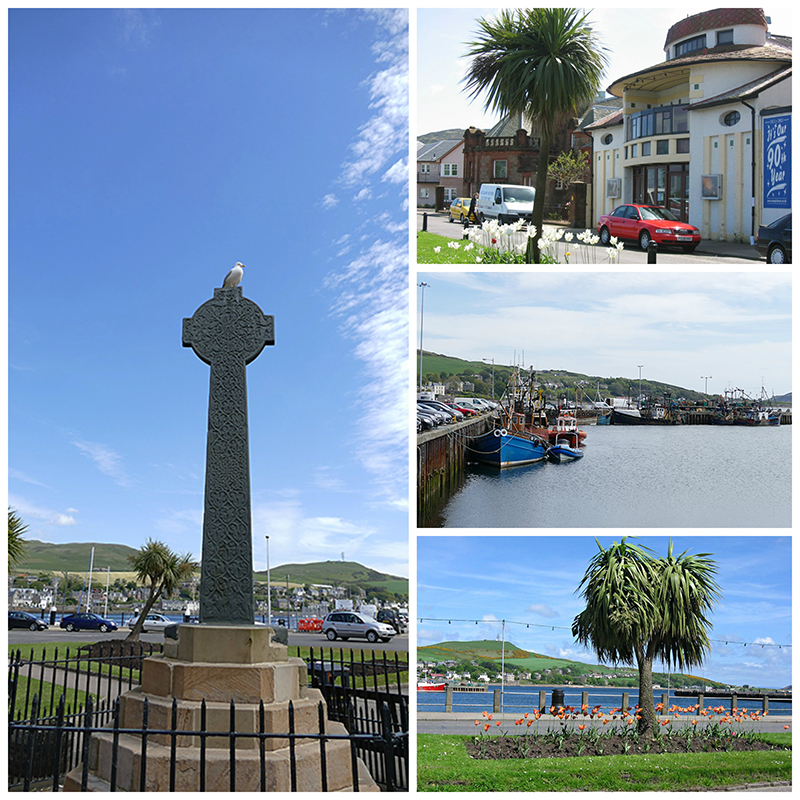 Views of Campbeltown and its medieval Celtic Cross in Kintyre © 2015 Scotiana