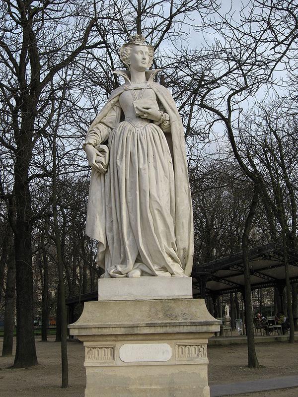 Statue of Marie Stuart by Jean-Jacques Feuchère. Luxembourg Garden Paris