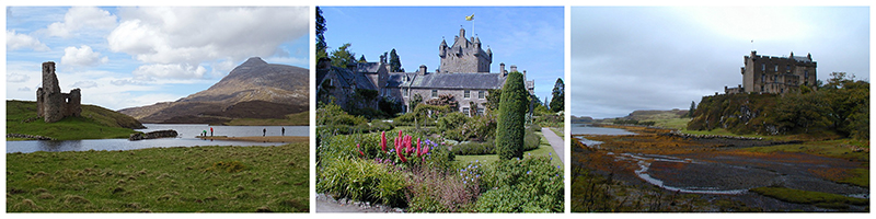 Ardvreck Cawdor Dunvegan castles - Scotland © 2017 Scotiana