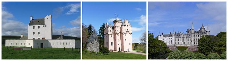 Corgaff, Craigievar and Dunrobin castles - Scotland © 2017 Scotiana