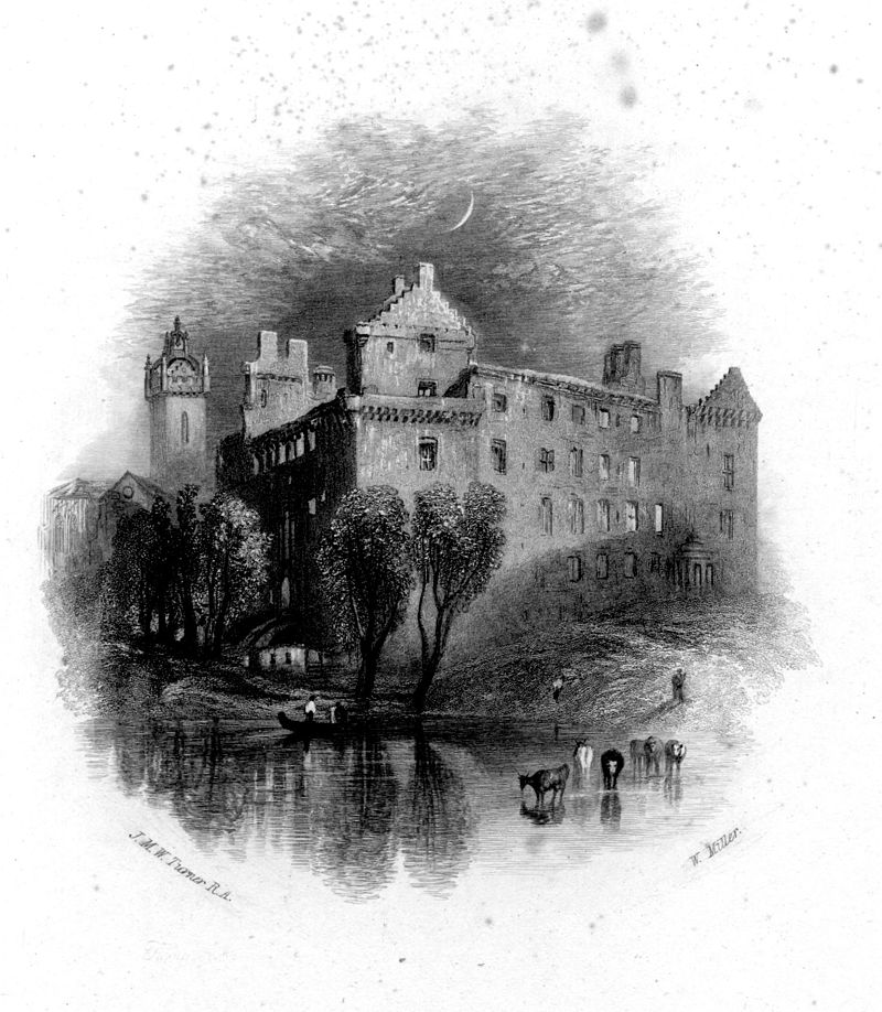 Linlithgow proof engraving by William Miller after Turner