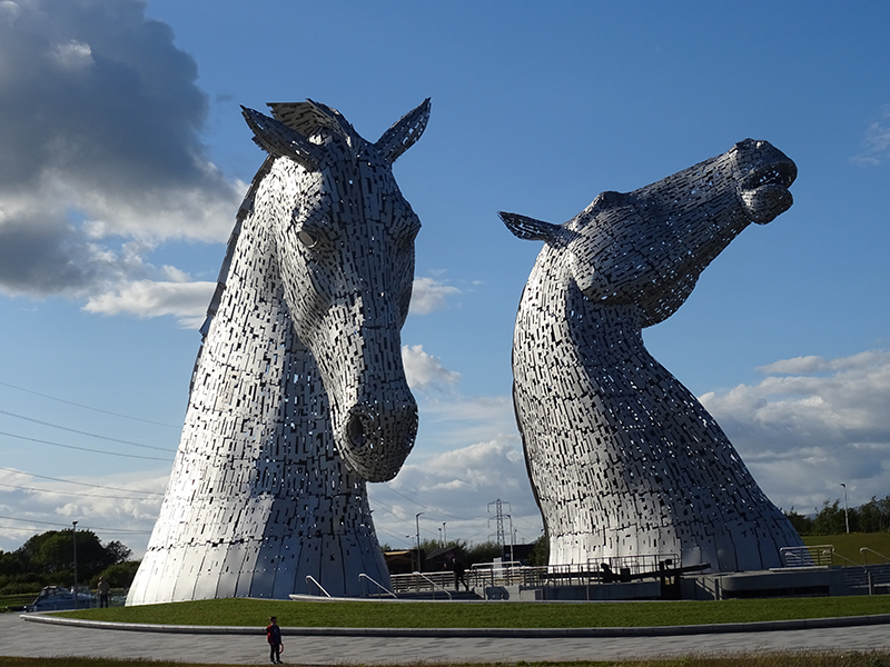 Kelpies in Scotland