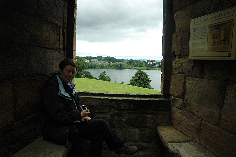 Linlithgow Palace view on the loch from a Palace window © 2007 Scotiana