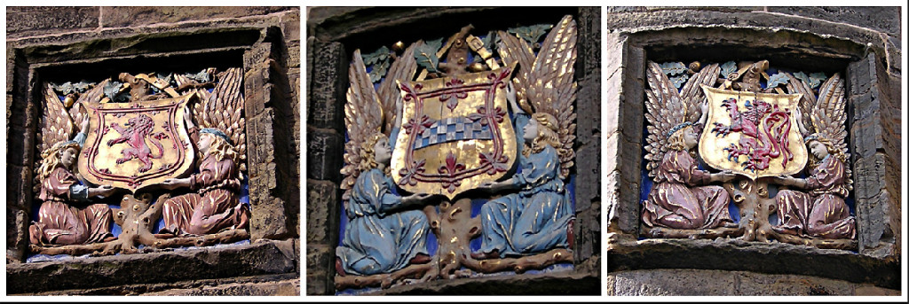 Falkland Palace coats-of-arms Scotland Stuarts of Bute Fife © 2003 Scotiana