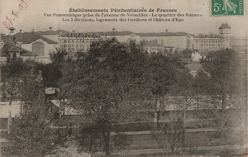 Old postcard of Fresnes Prison Source Wikimedia