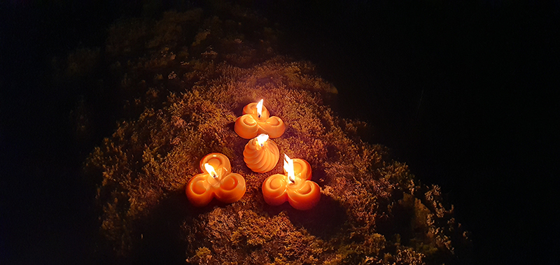 Candlelight in Glen Coe mountains on the eve of Hogmanay © 2019 Scotiana