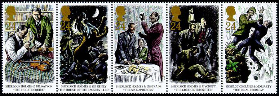Sherlock Holmes on Stamps - GB -1993
