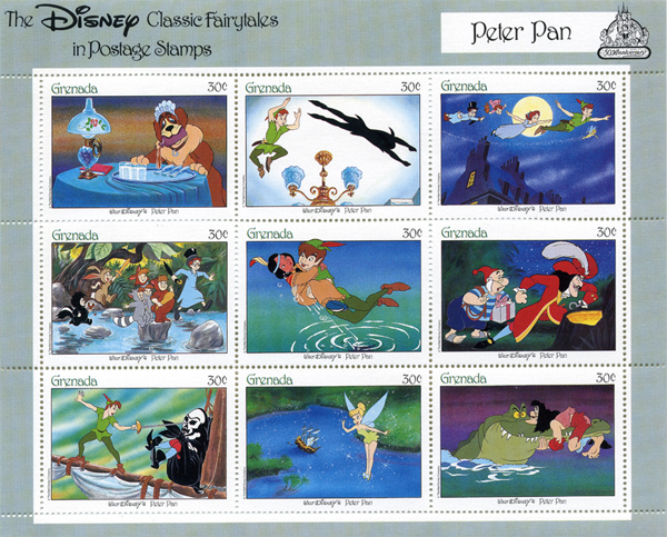 Walt Disney Classic Fairytales in Postage Stamps - Peter Pan
