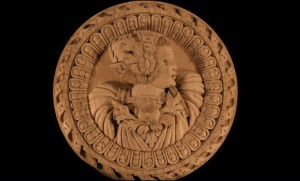 A series of 0s, Is and IIs appear on the Stirling Head, which would have graced the ceiling of the Royal Palace  Source:http://news.bbc.co.uk