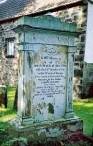 John Mackay Wilson's Grave - Tweedsmouth Churchyard