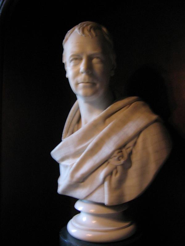 Walter Scott bust Abbotsford Scotiana.com