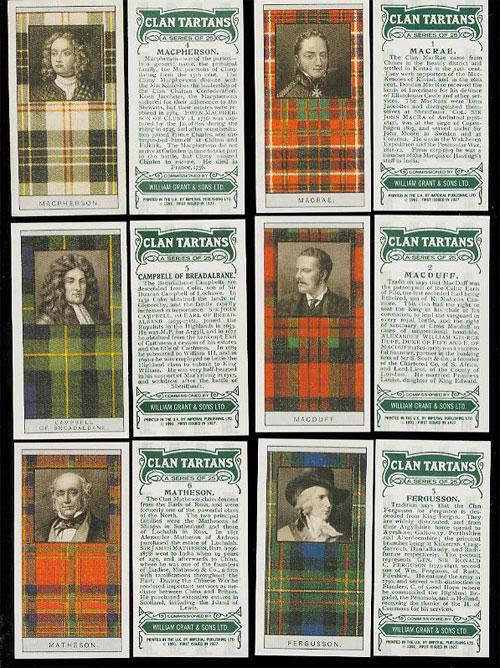 Scottish Clan Tartans - Glenfiddich Card Set