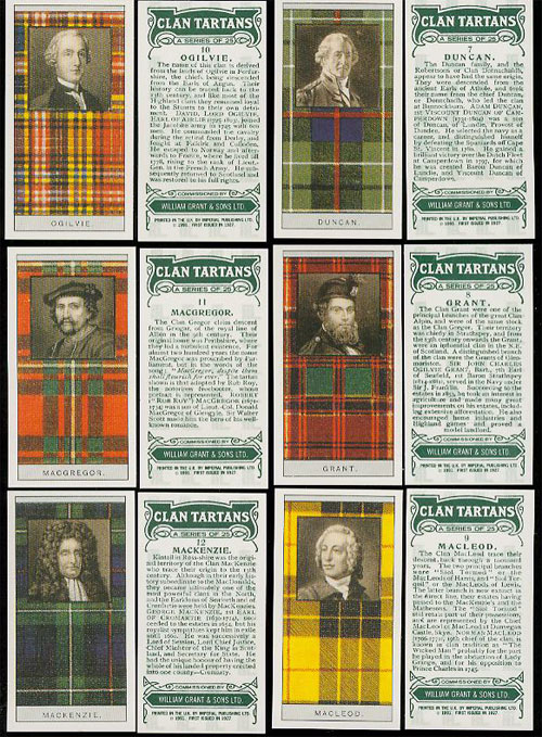 Scottish Clan Tartans - Glenfiddich Card set
