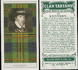 Scottish Clan Tartans - Glenfiddich Whisky Card Set - Clan Kennedy