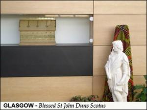 St Valentine Relics In Gold Casket - St John Duns Scotus