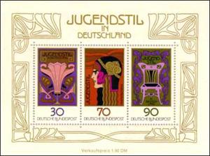 Jugendstyle Art Nouveau Postage Stamp