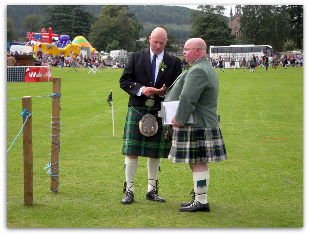 Judges at Aboyne Highland Games, Scotland