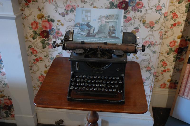 Scottish Borders Abbotsford Sir Walter Scott's house  Nigel Tranter exhibition author's typewriter