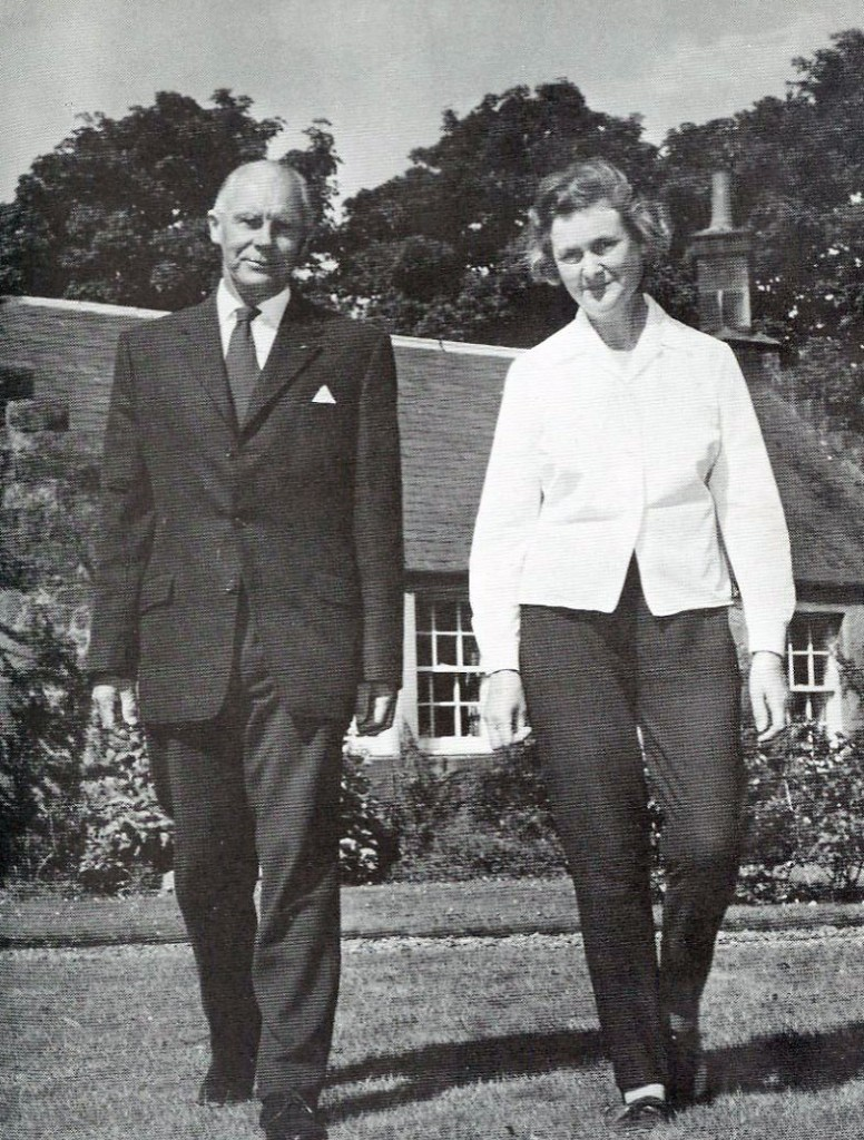 Nigel and May Tranter in the garden of Quarry House, Aberfeldy, Scotland